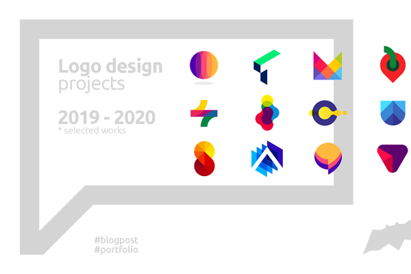 Logo design projects created in 2019 2020 by Alex Tass