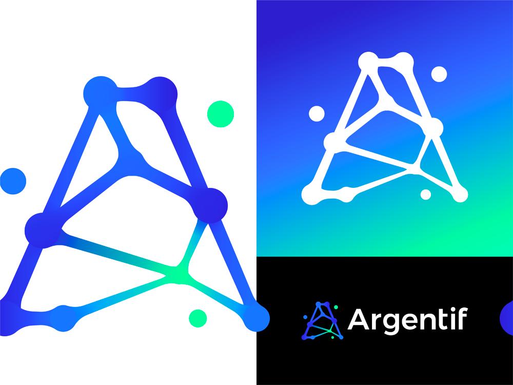 A letter mark monogram organic connections logo design by Alex Tass