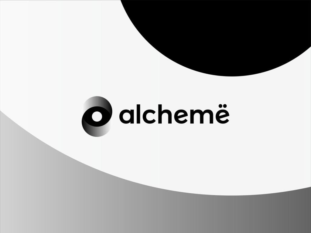 Alchemë social platform beauty professionals logo design by Alex Tass