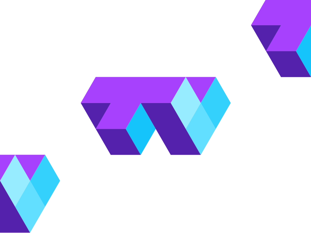 Blocks TV tech modules modular fun entertainment logo design by Alex Tass