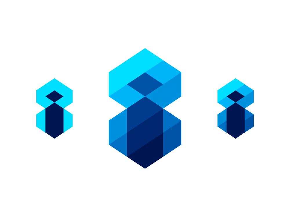 Eight Immersive inside 8i i8 i 8 logo design by Alex Tass