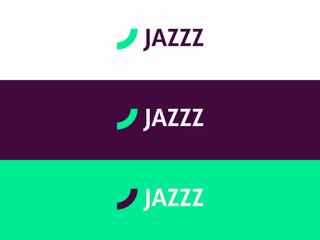 Jazzz tech company production selling lighting electronics logo design by Alex Tass