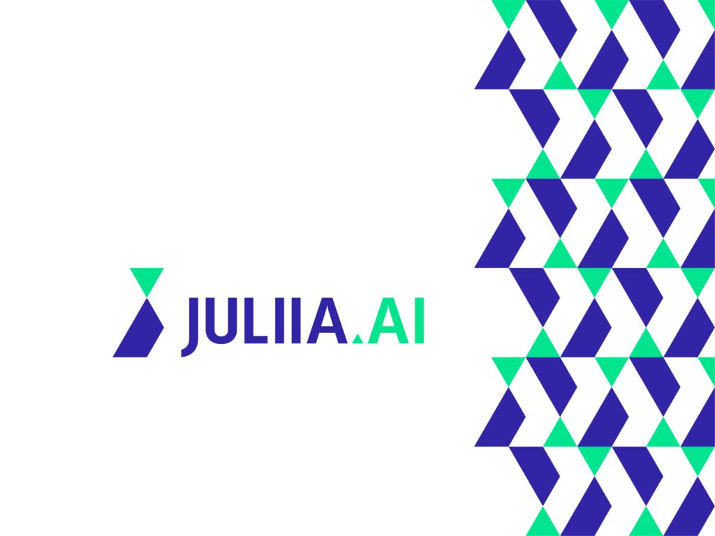 Juliia.ai JA J A monogram industrial artificial intelligence logo design by Alex Tass