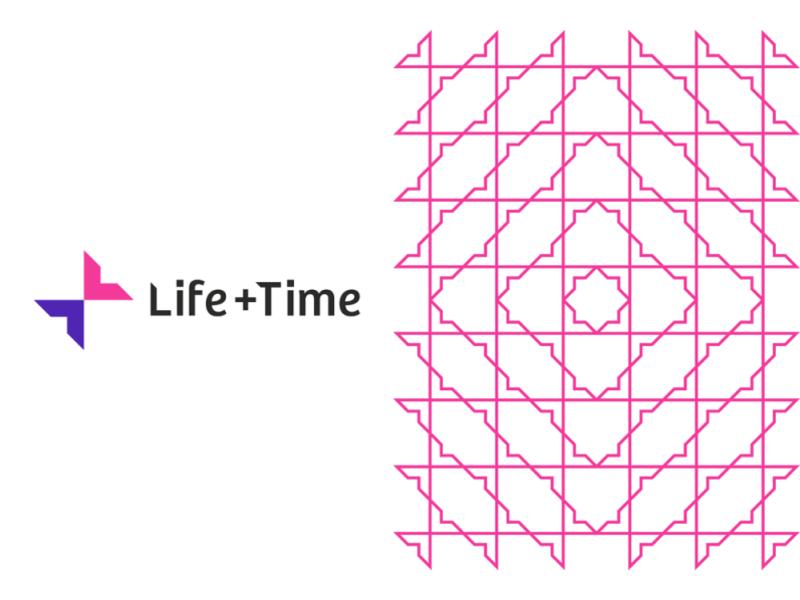 Life + Time management app logo & pattern design, L + T monogram design by Alex Tass
