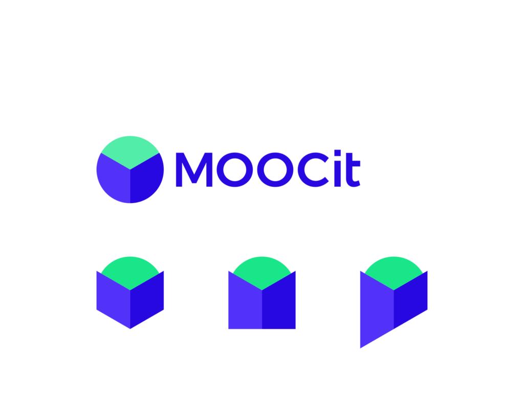 MOOC it M book person globe online e learning logo design by Alex Tass