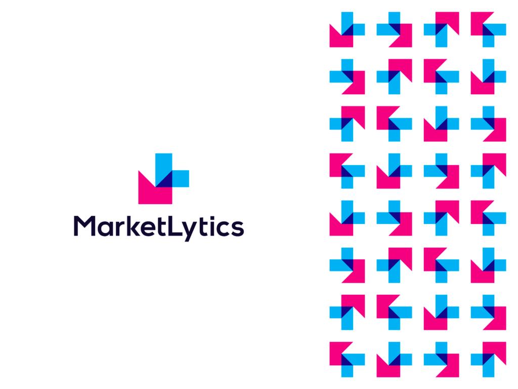 MarketLytics Market analytics, logo for business data insights logo design by Alex Tass