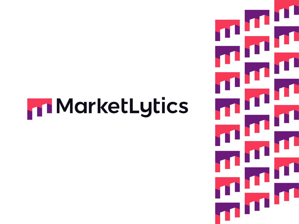 Marketlytics market analytics business data insights logo design by Alex Tass