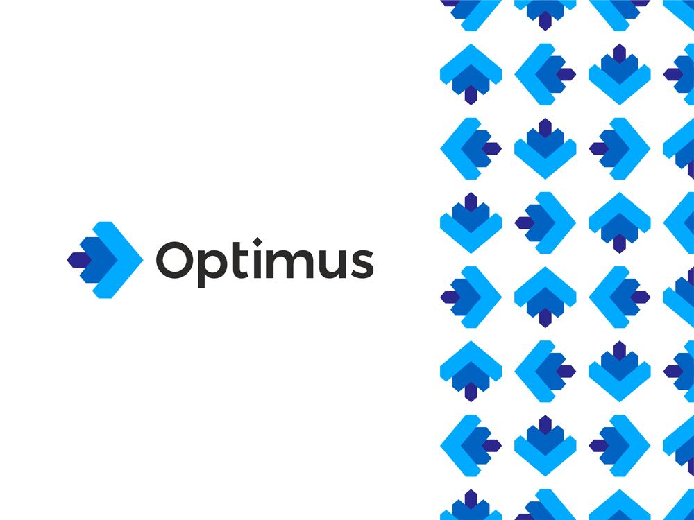 Optimus O letter arrows engineering optimizing operations logo design by Alex Tass