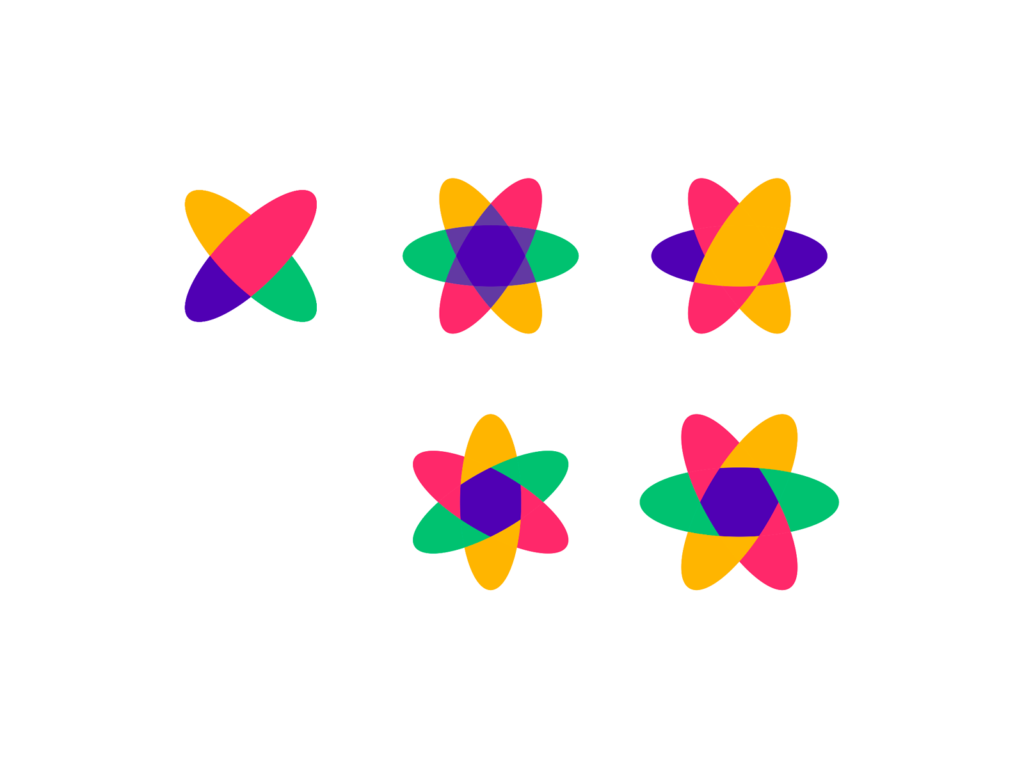 Portals dimensions planets for a digital ecosystem logo icon design by Alex Tass