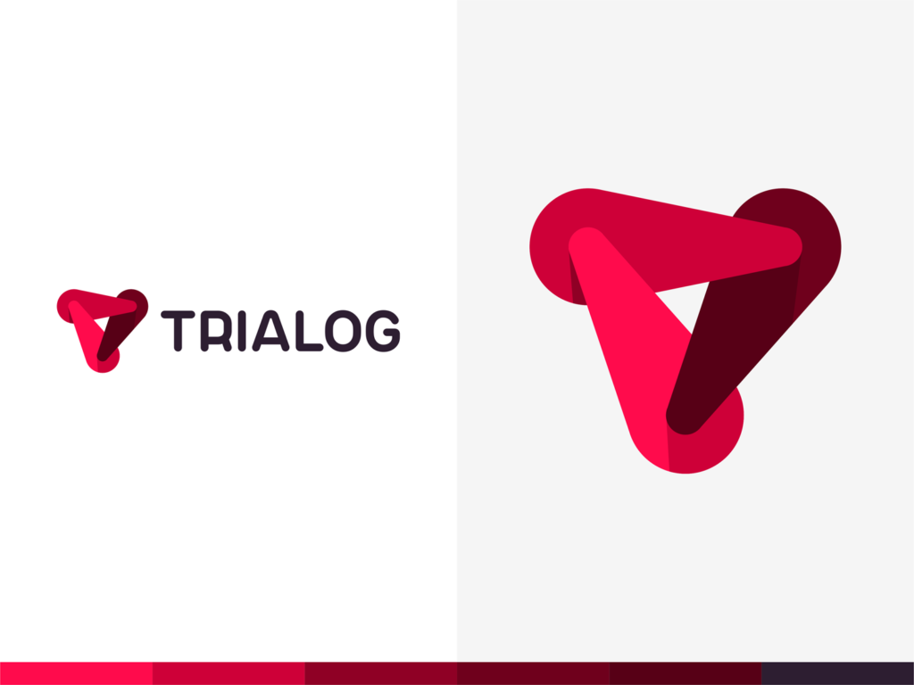 Trialog real time artificial intelligence software dialogue logo design by Alex Tass (3)