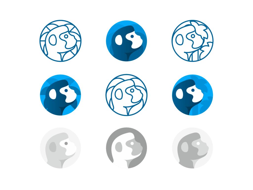 WSO Wall Street Oasis, investment banking & finance community logo design, cheeky monkey by Alex Tass
