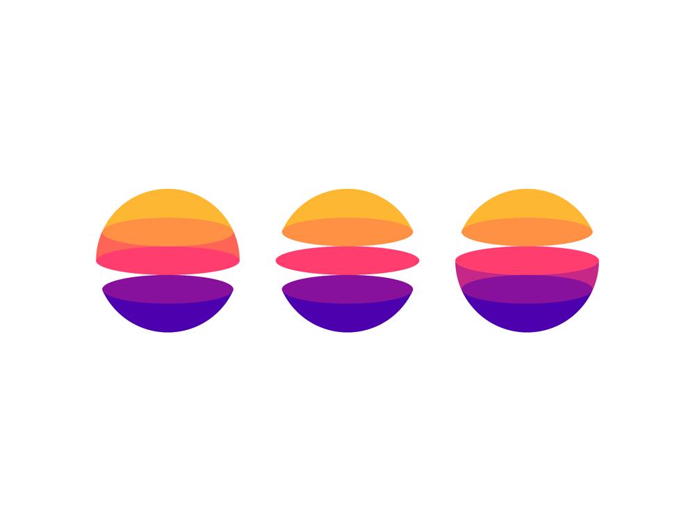 Portals dimensions planets digital ecosystem icon logo design by Alex Tass