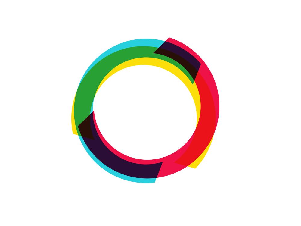 video art o 0 circle play RGB logo design symbol icon by Alex Tass