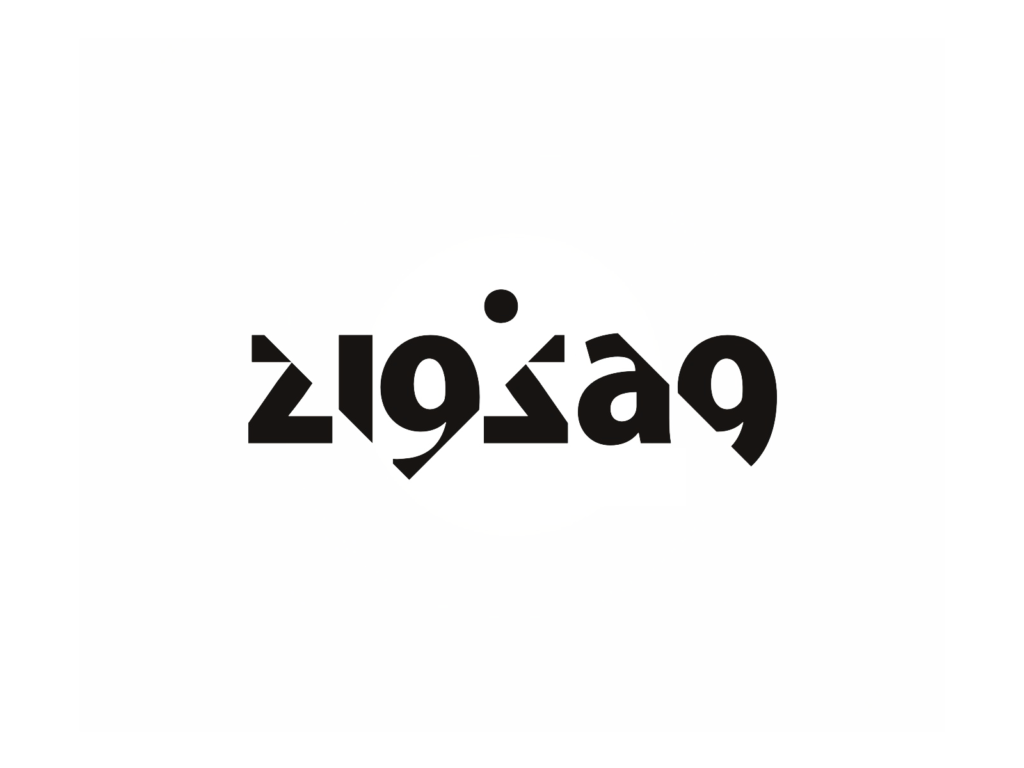 Zigzag electronic music djs producers collective logo design by Alex Tass