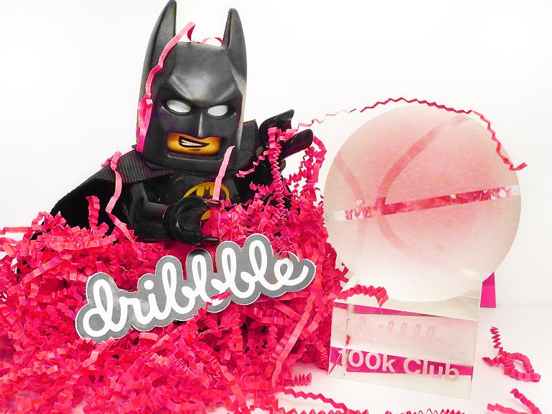 Lego Batman 100k Club on Dribbble trophy
