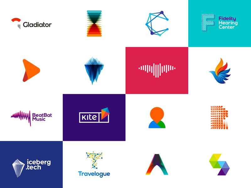 Popular Dribbble logos by Alex Tass