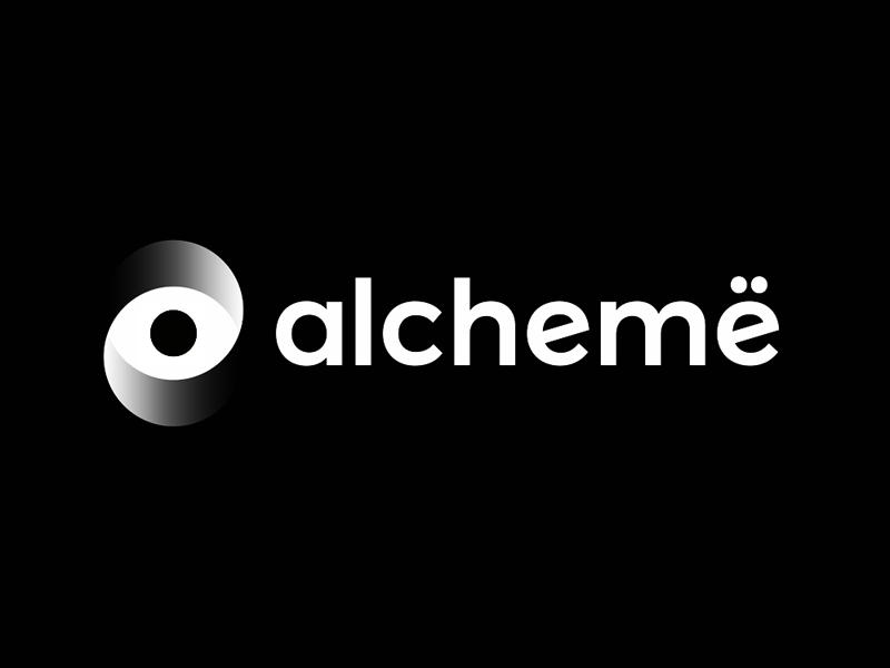 Alchemë beauty professionals network logo design by Alex Tass