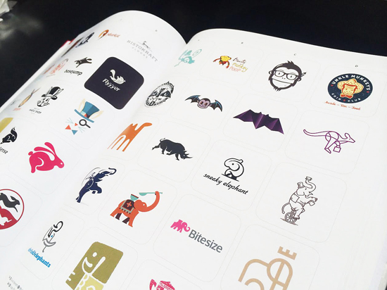 Alex Tass bat logo design symbol featured in LogoLounge 9 Logo Lounge book