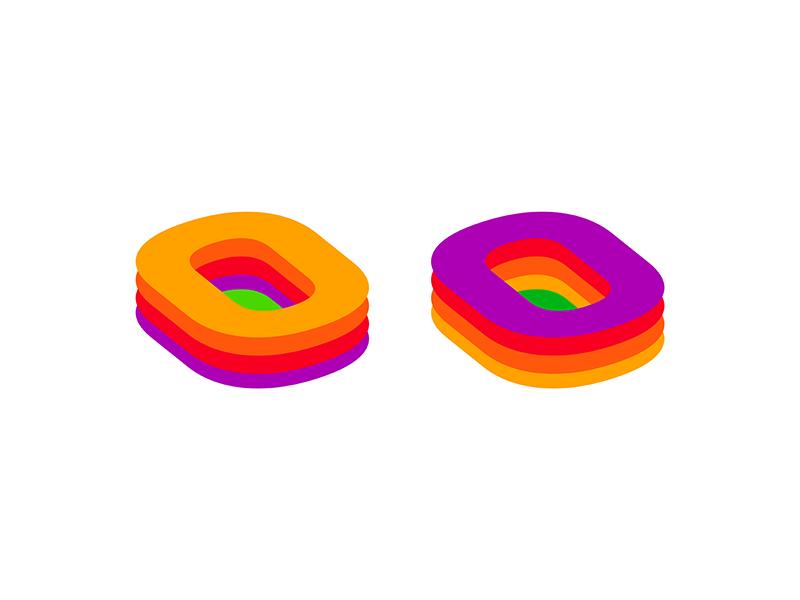 Arena + letter O for sport stats logo design symbol icon by Alex Tass