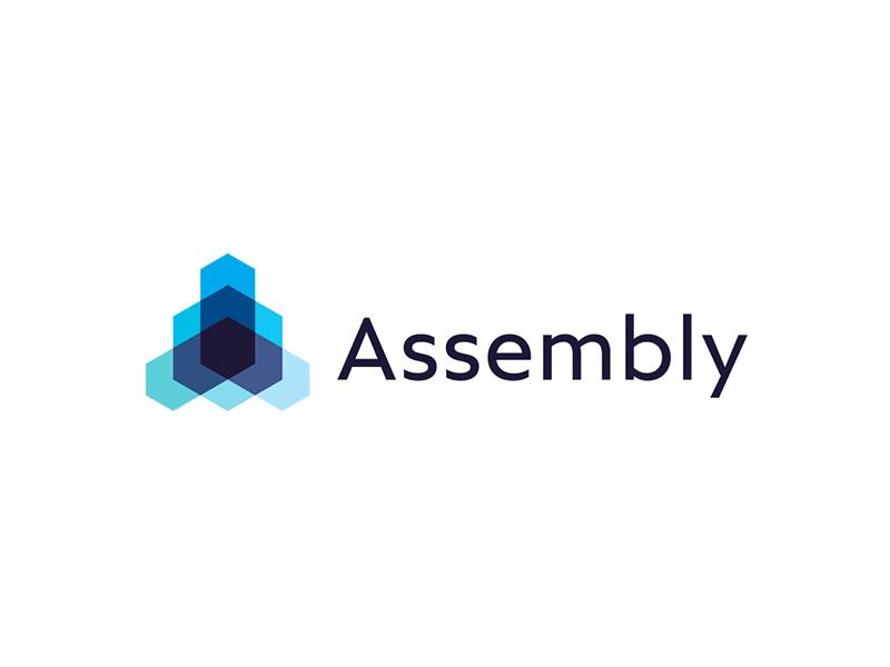 Assembly open source technology framework protocol logo design by Alex Tass
