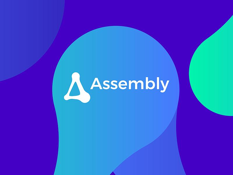 Assembly, open source technology framework protocol logo design by Alex Tass