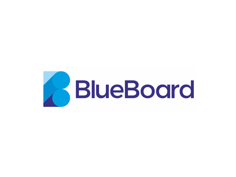 Blue board real time marketing tool artificial intelligence logo design by Alex Tass