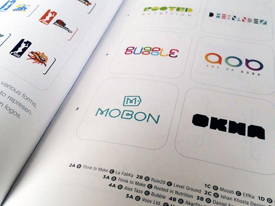 Bubble logo design by Alex Tass featured in LogoLounge 9 Logo Lounge book