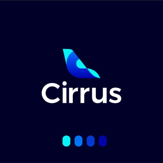 Cirrus aviation flights pricing deep learning ai logo design by Alex Tass