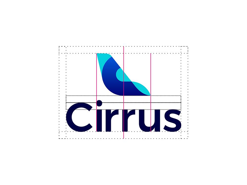 Cirrus aviation flights pricing deep learning ai logo design construction grid by Alex Tass