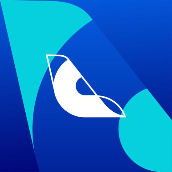 Cirrus aviation flights pricing deep learning ai logo identity design