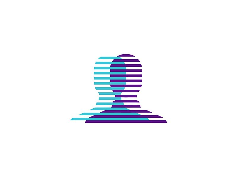 Clone find search social network logo design by Alex Tass