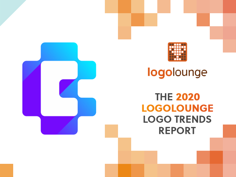 CoinBase CB negative space monogram featured in LogoLounge anual logo design trends report 2020 by Alex Tass