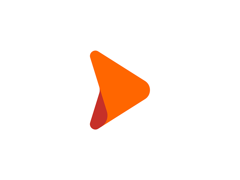 D forward arrow web hosting play logo design by Alex Tass