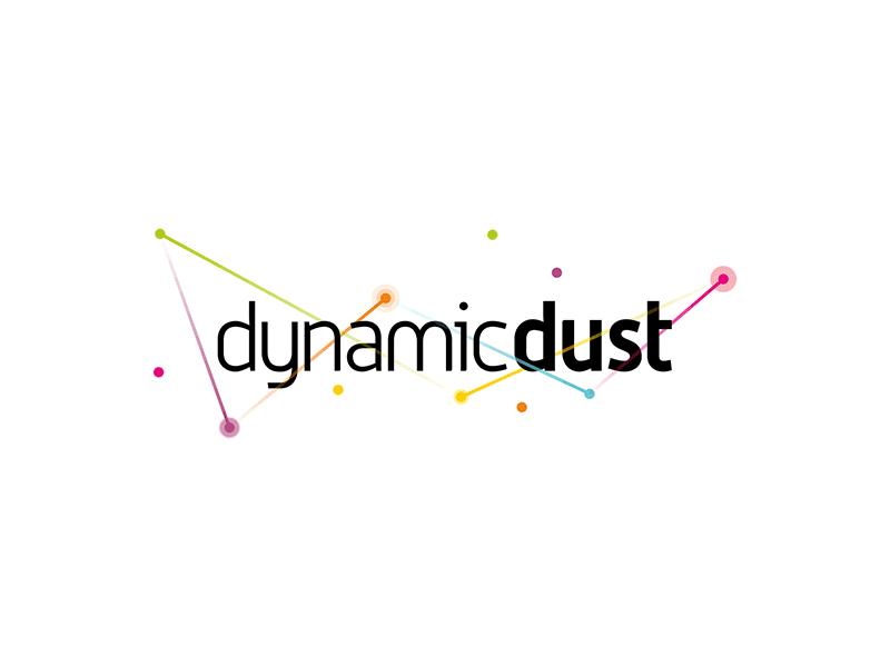 Dynamic Dust games and apps developer logo design by Alex Tass