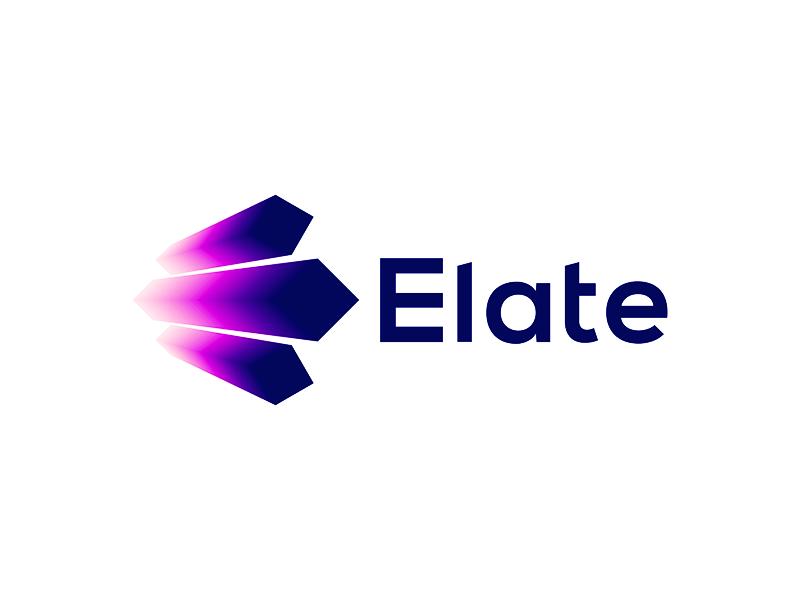 Elate e letter explode explosion music events entertainment logo design by Alex Tass