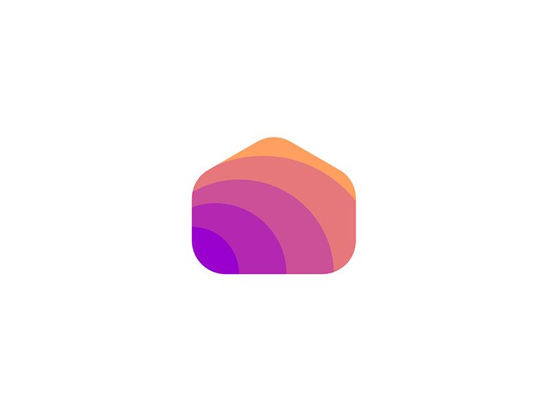 Fun house smart homes logo design explorations logo design by Alex Tass