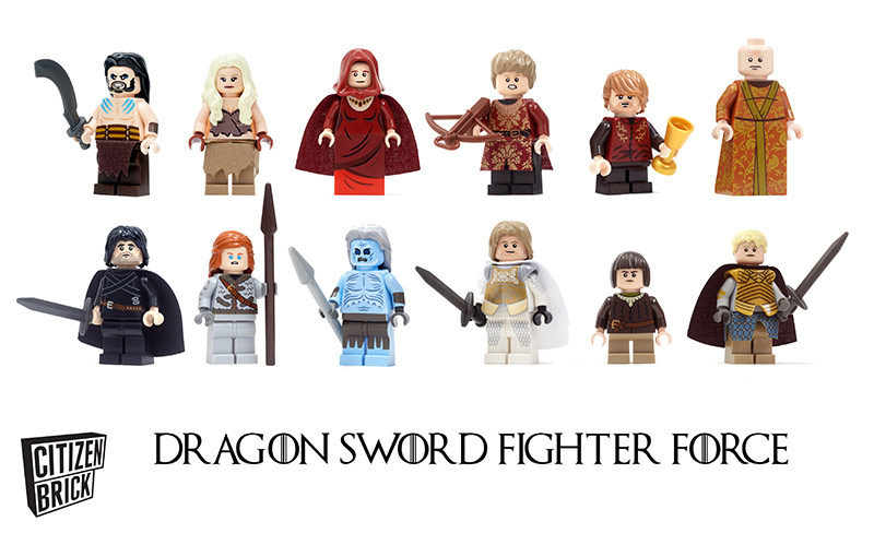 Game of Thrones inspired custom minifigures by Citizen Brick