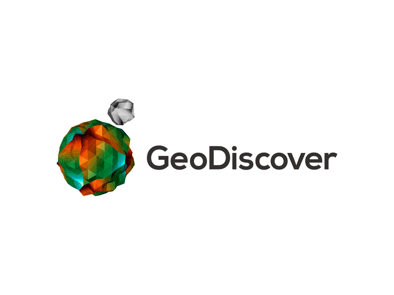 Geodiscover gis tin it earth moon lowpoly planet logo design by Alex Tass