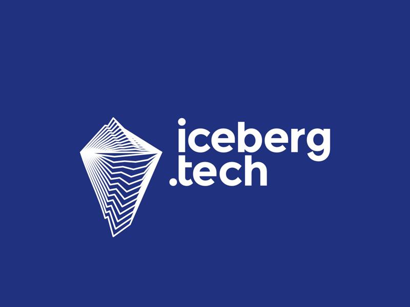 Iceberg tech logo design by Alex Tass