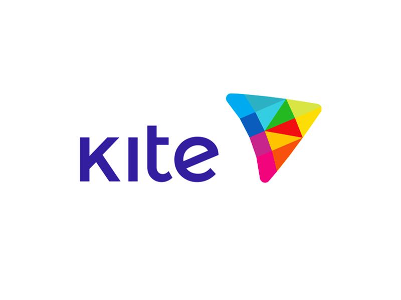 Kite colorful K letter e-learning icon logomark logo design by Alex Tass