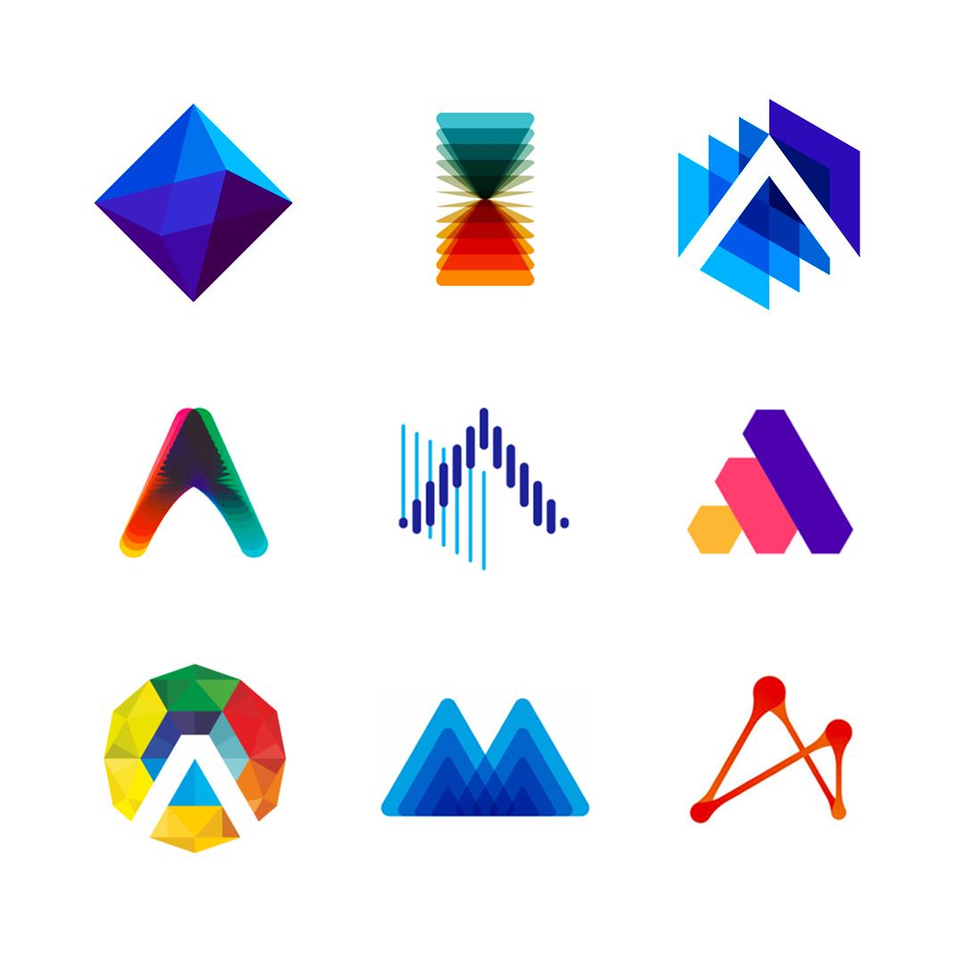 LOGO Alphabet A letter mark monogram logomark icon logo design by Alex Tass