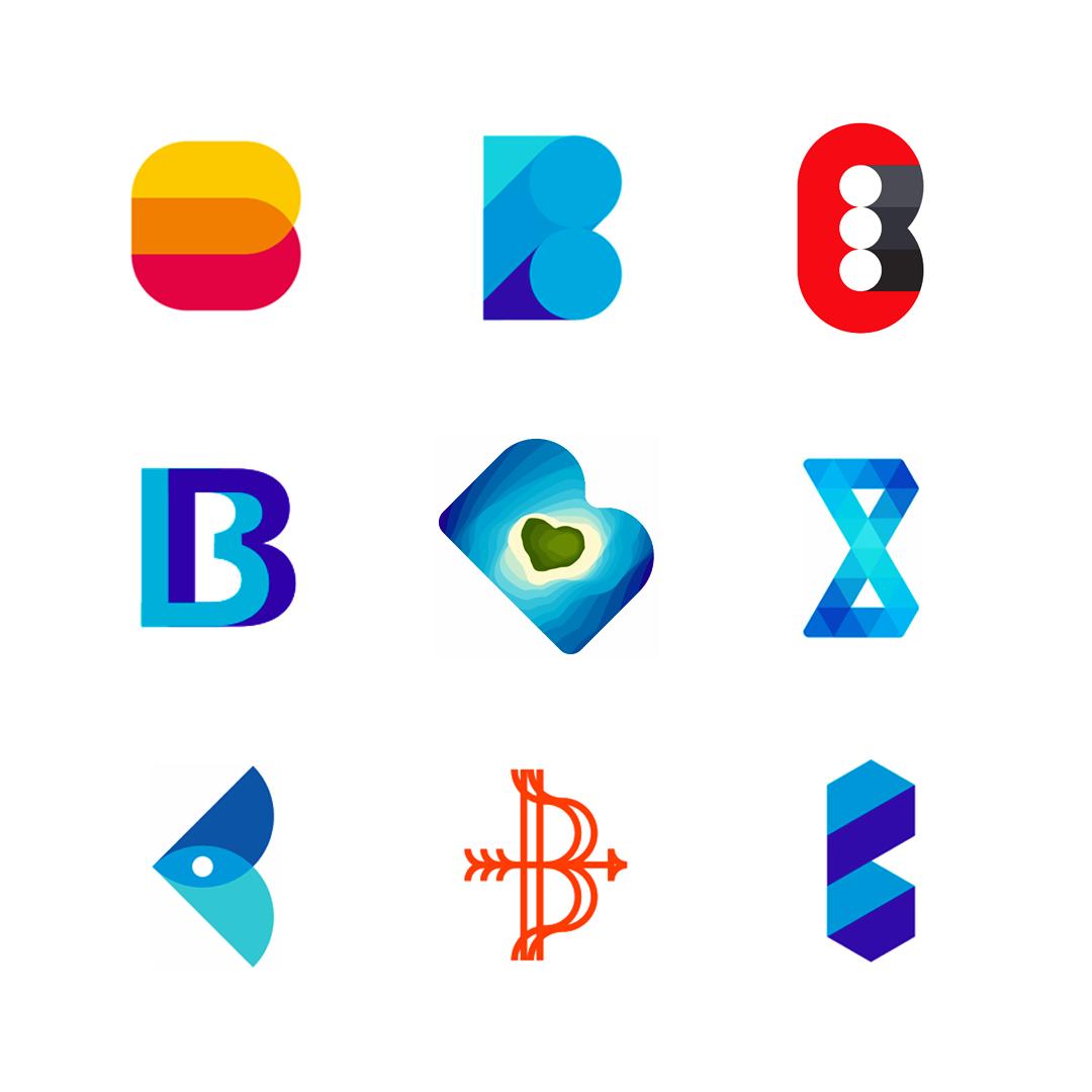 LOGO Alphabet B letter mark monogram logomark icon logo design by Alex Tass