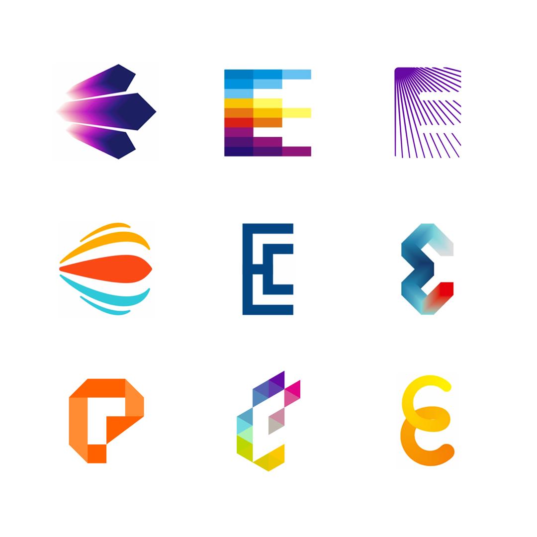 LOGO Alphabet E letter mark monogram logomark icon logo design by Alex Tass