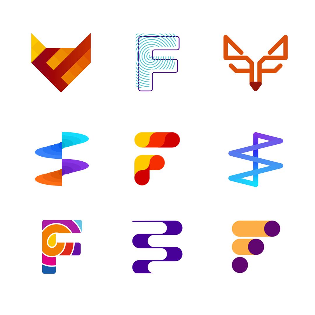 LOGO Alphabet F letter mark monogram logomark icon logo design by Alex Tass