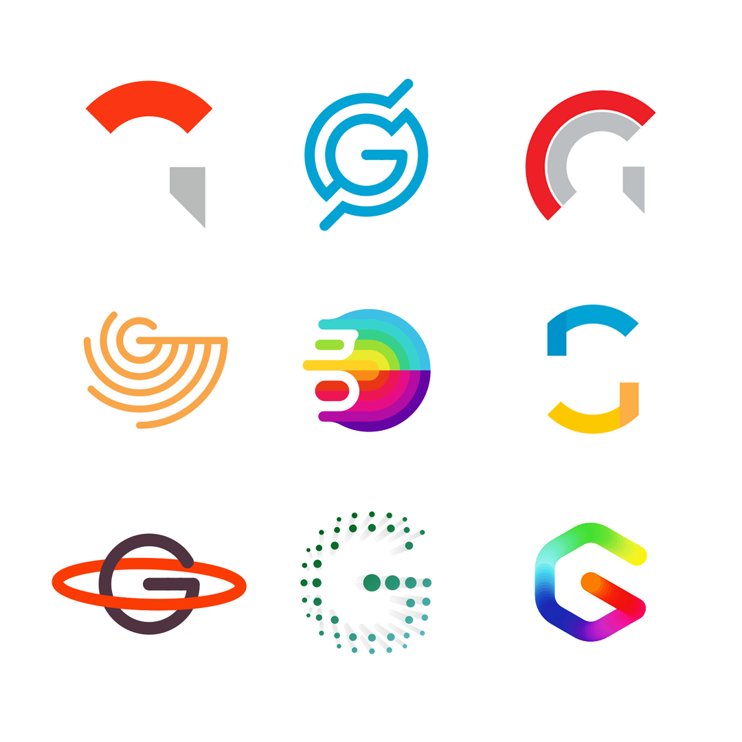 LOGO Alphabet G letter mark monogram logomark icon logo design by Alex Tass