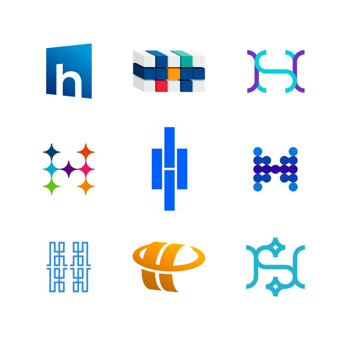 LOGO Alphabet H letter mark monogram logomark icon logo design by Alex Tass
