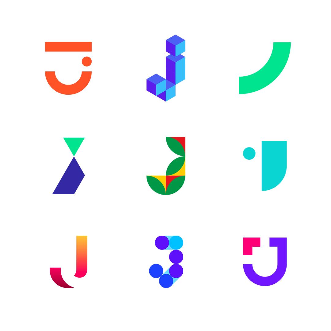 LOGO Alphabet J letter mark monogram logomark icon logo design by Alex Tass