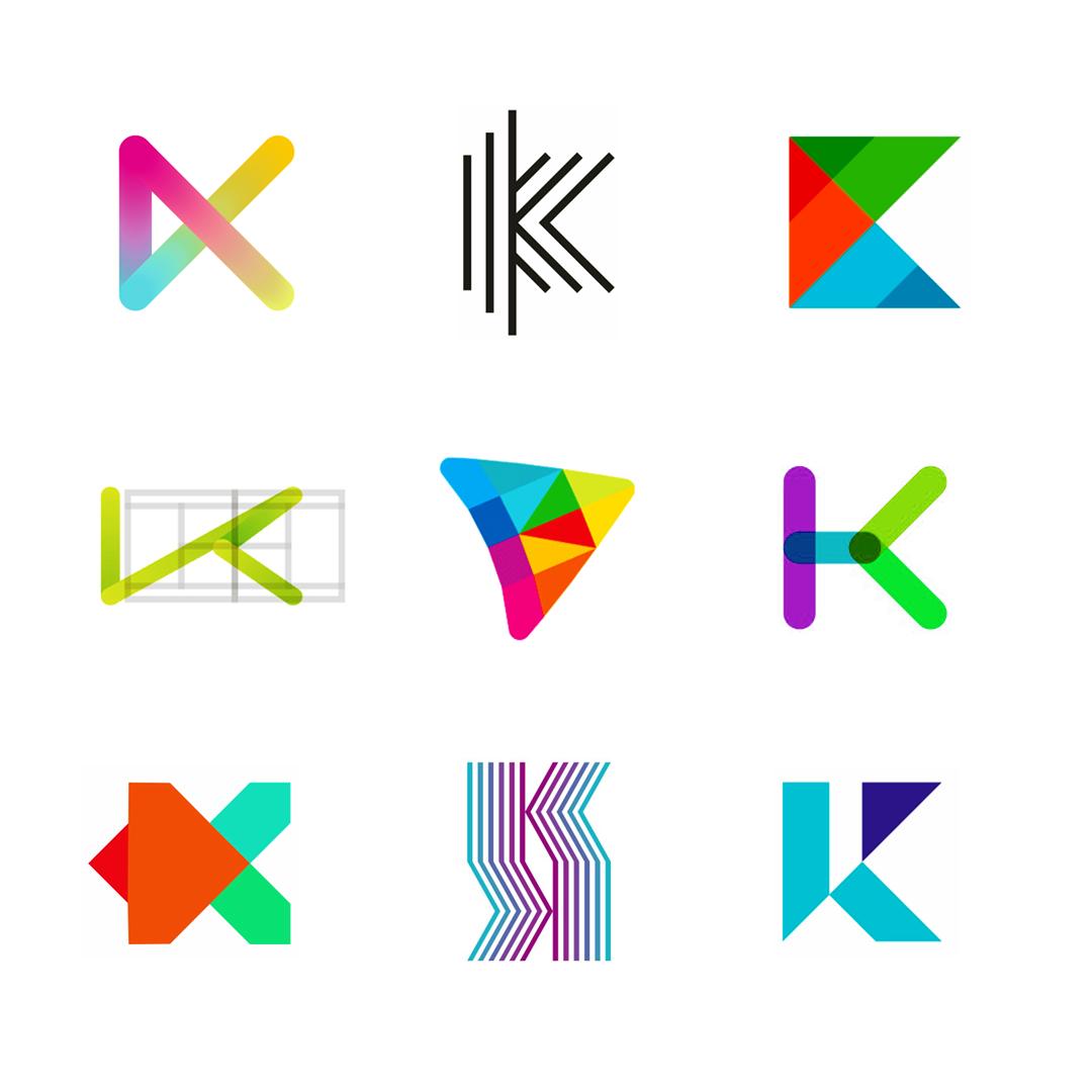 LOGO Alphabet K letter mark monogram logomark icon logo design by Alex Tass