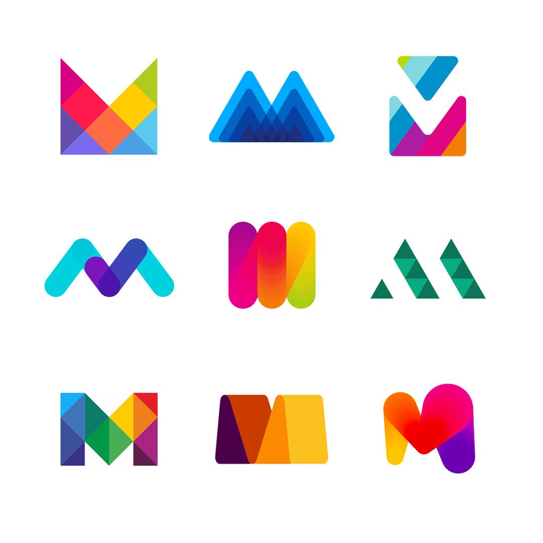 LOGO Alphabet M letter mark monogram logomark icon logo design by Alex Tass
