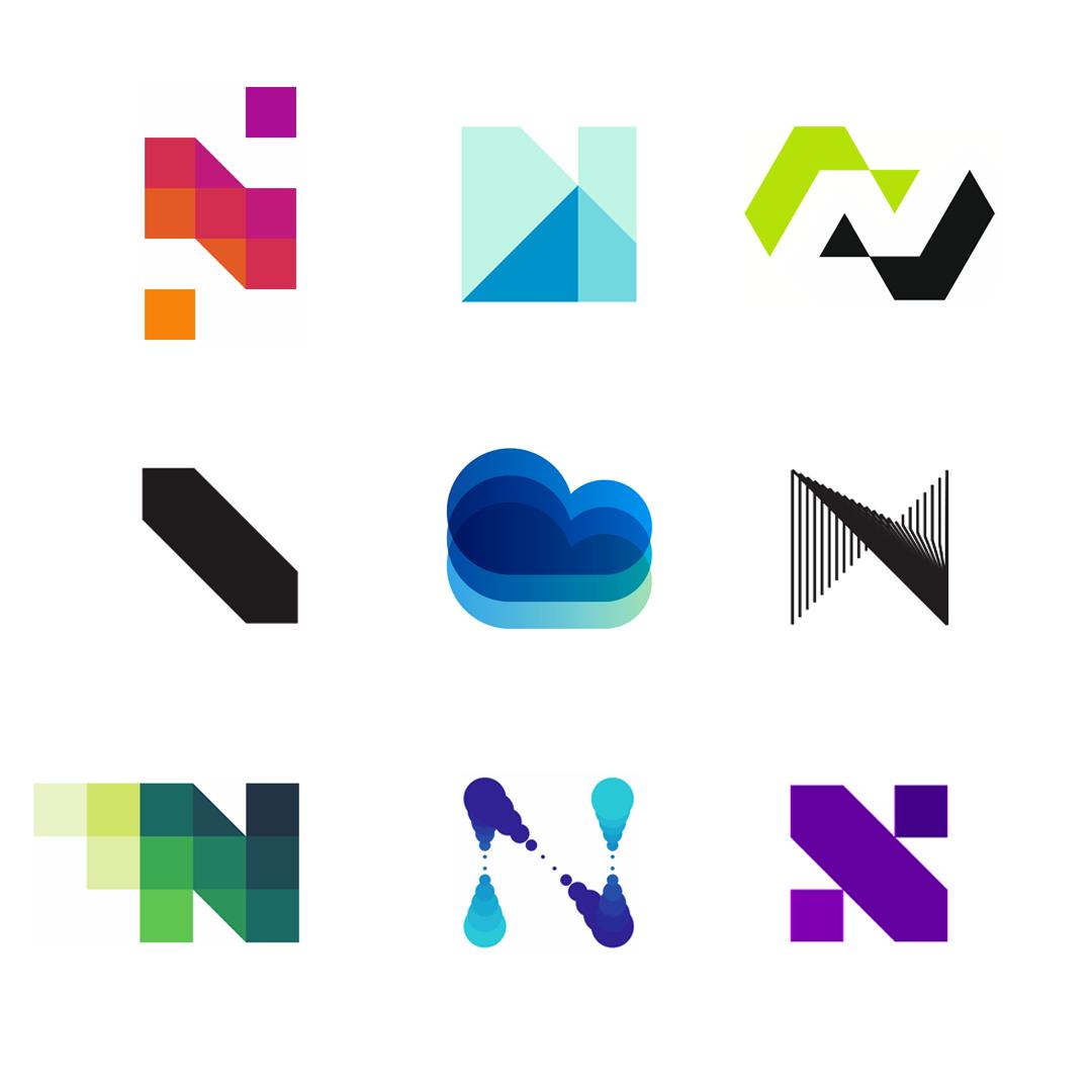 LOGO Alphabet N letter mark monogram logomark icon logo design by Alex Tass